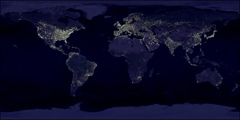 Light Pollution - Us dark skys map