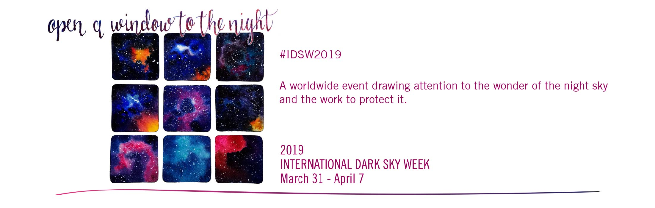 International Dark Sky Week 2019 IDSW2019 IDA