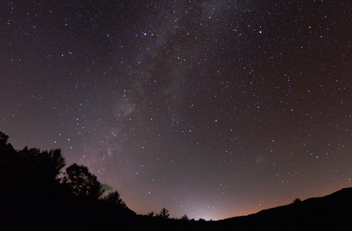 The summer Milky Way above Blue Ridge Observatory & Star Park
