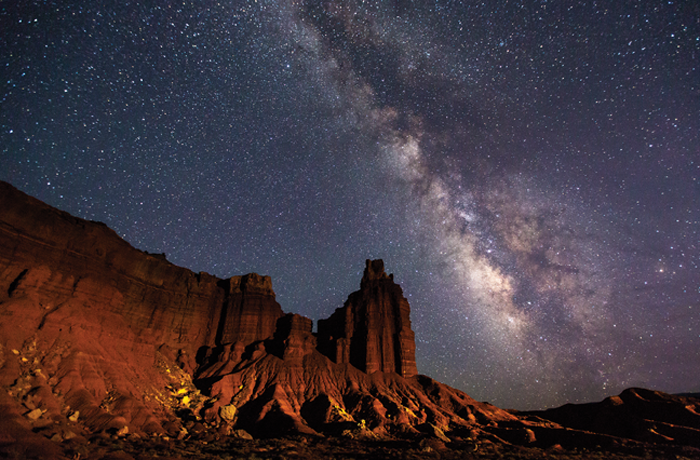 Milky Way over Chimney Rock, Capitol Reef National Park