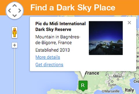 International Dark Sky Sanctuaries - Us dark skys map