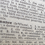 "A picture of the word ""ordinance"" in the dictionary."