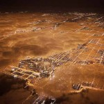 Light pollution over Chicago