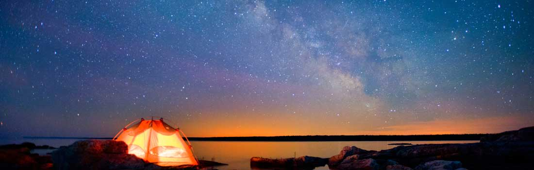 Starry Sky with tent