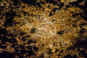 This photo taken of Paris, France from the International Space Station shows the incredible amount of outdoor lighting.
