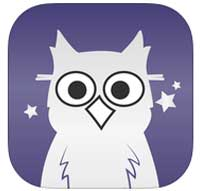 Loss of Night App Icon-Owl on purple background