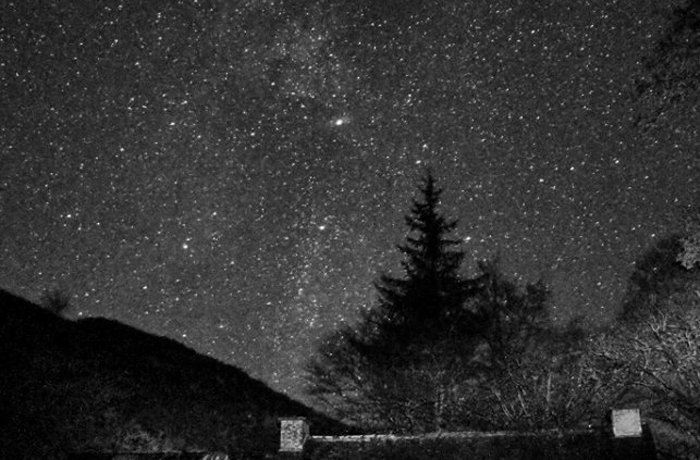 The Milky Way over Elan Valley Estate
