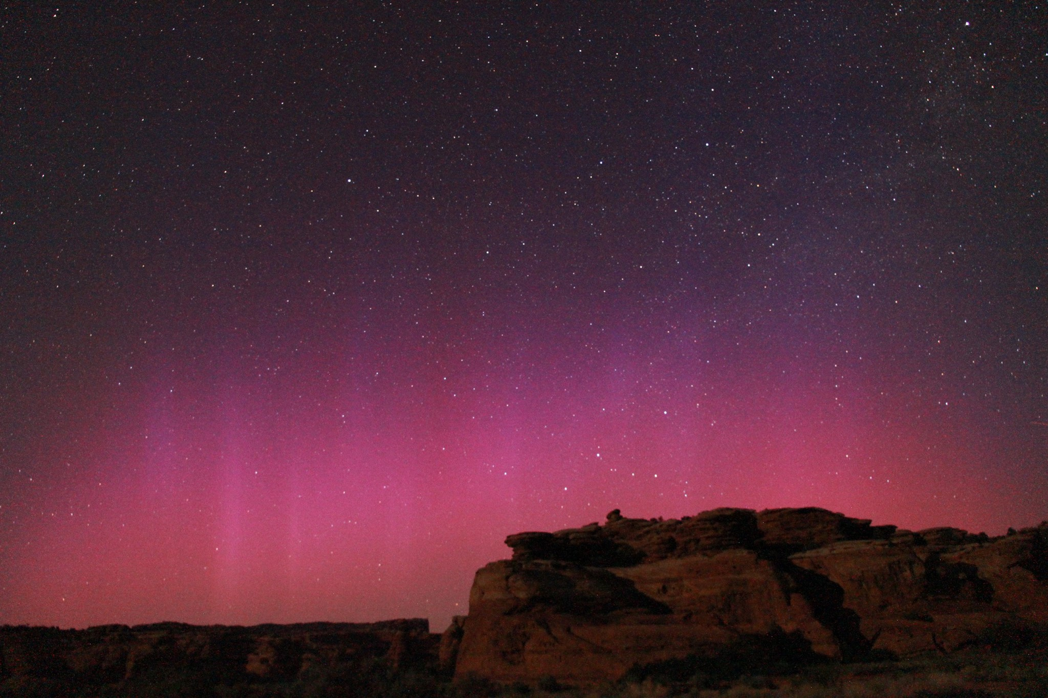 Dark Skies and Northern Lights Image