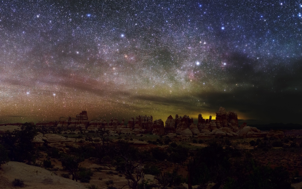 Canyonlands national park night