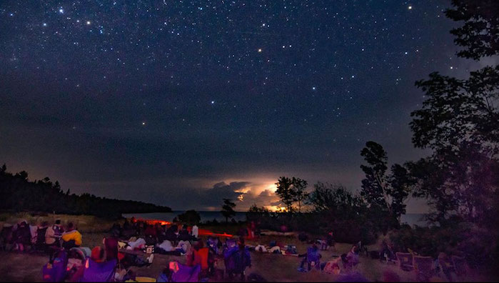 Dark sky programming at Newport State Park (WI), an aspiring Dark Sky Park. Photo by Denny Moutray.