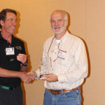 Bill Wren of the McDonald Observatory in Texas recieved the Hoag-Robison Award from IDA Board President.