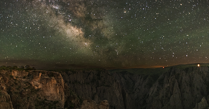 The Milky Way rises over Black Canyon of the Gunnison National Park. Photo by Greg Owens (owensimagery.com)