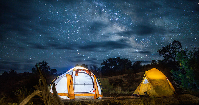 Tents under the Milkyway at Canyonlands National Park in Utah. Photo credit: NPS/Emily Ogden