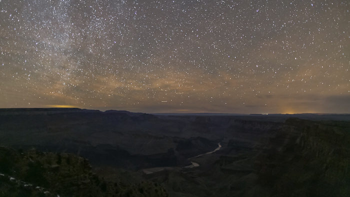 Grand Canyon National Park under the stars.
