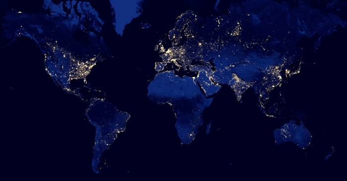 Eyes In The Sky Exploring Global Light Pollution With Satellite Maps - Earth map satellite