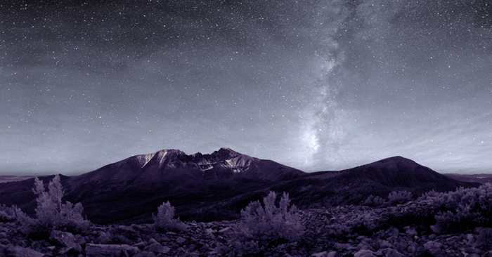 The Milky Way sets over Wheeler Peak in Great Basin National Park. Photo by Dan Duriscoe / National Park Service.