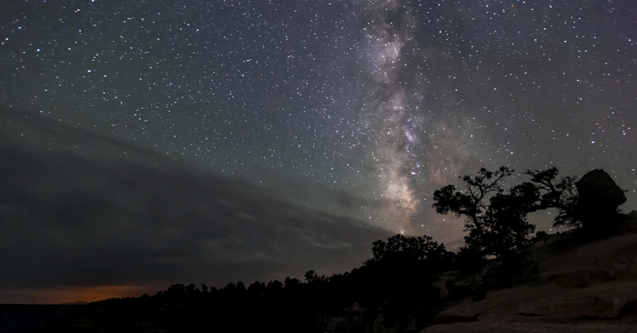 The summer Milky Way sets over Grand Canyon National Park. Photo by the U.S. National Park Service.
