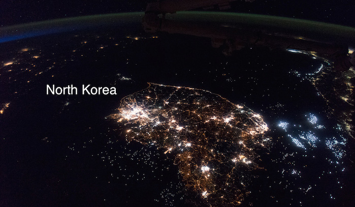 Photo ISS043-E-247811 of North and South Korea from the International Space Station ISS.