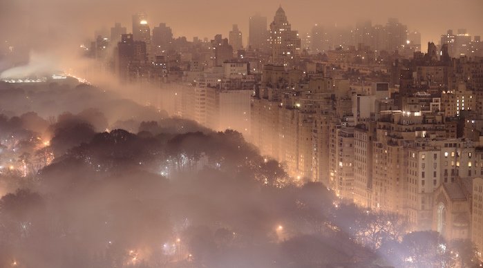 Light pollution in New York City. Photo by Jim Richardson.