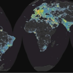 "World map of artificial sky brightness. Image from the new ""World Atlas of Artificial Night Sky Brightness."""
