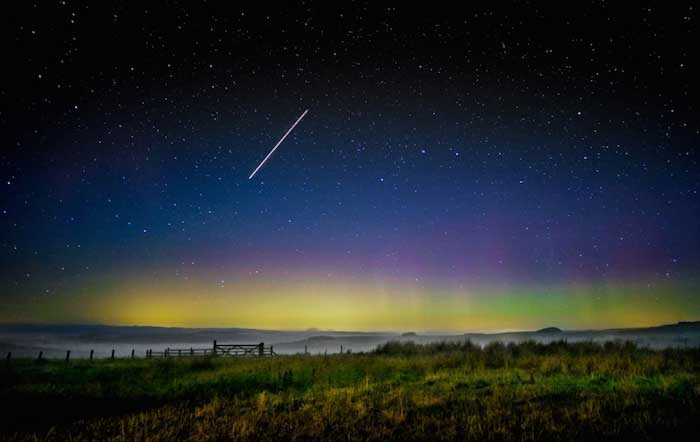 The Northern Lights at Northumberland National Park and Kielder Water & Forest Park, an International Dark Sky Park. Photo by Herdiephoto via Flickr (CC 2.0).