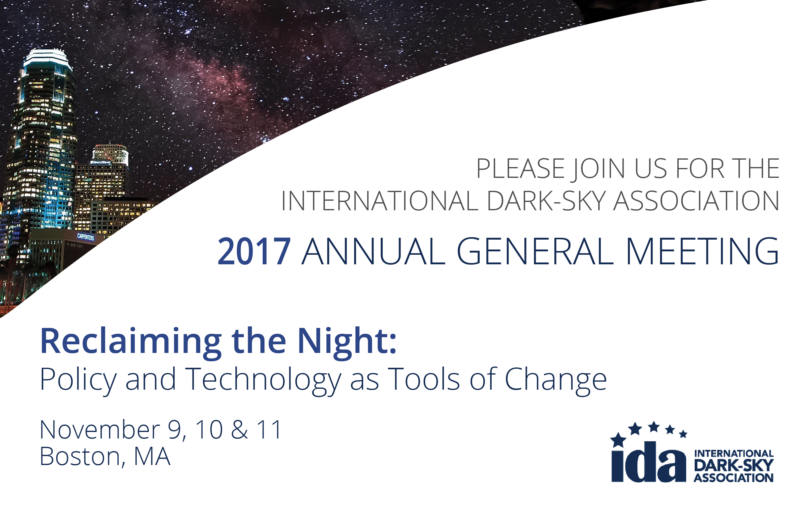 Reclaiming the Night: IDA's 2017 Annual General Meeting Image