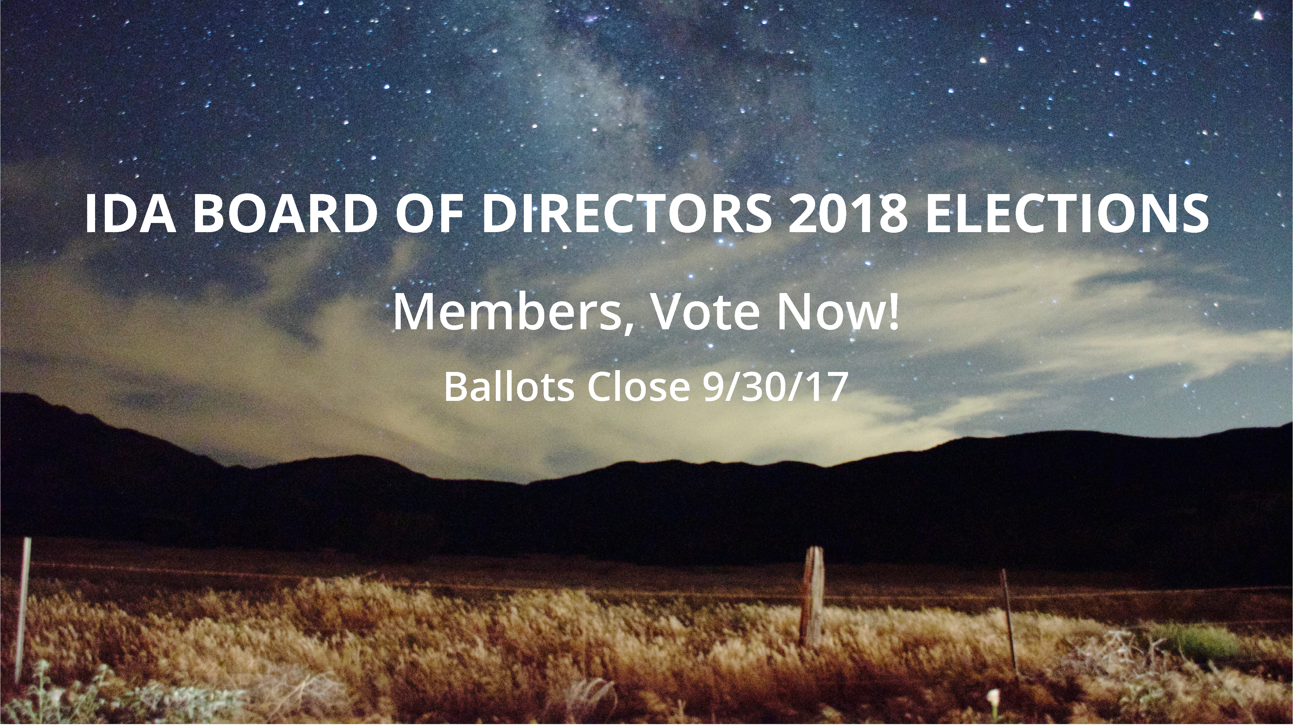 Members! Cast Your Vote for the IDA 2018 Board of Directors Before September 30 Image