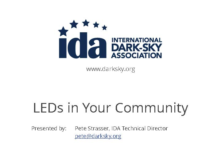 LEDs In Your Community Webinar Image