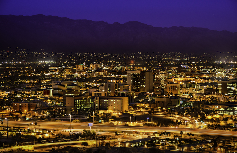 Tucson, Arizona, U.S. Skyglow Reduced 7% after Street Light Conversion Image