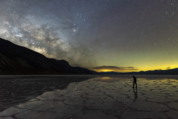 Milky Way Reflections in Death Valley by Chris Olivs.