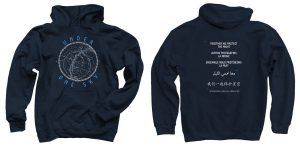 Under One Sky Hoodie in Navy