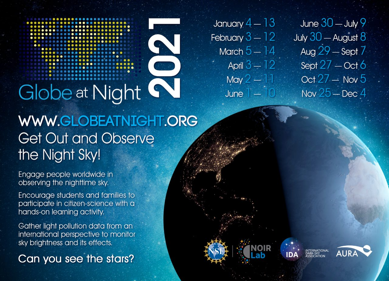 Globe at Night 2021 dates
