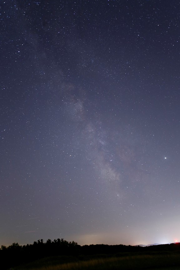 View of the Milky Way above Fry Family Park. PC: Terry Mann
